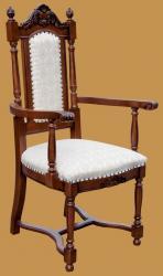Milánó l. karfás szék, szövet kárpittal