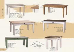 Festett asztalok, székek