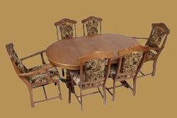 Siegen étkező grn. (2 karfás székkel)